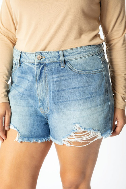 Curvy High Rise Mom Shorts, Medium
