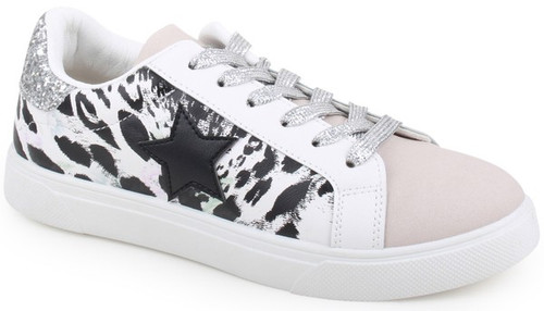 Layla Star Sneaker, White Tiger
