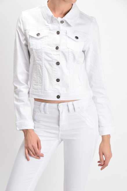 Zoey Denim Jacket, White