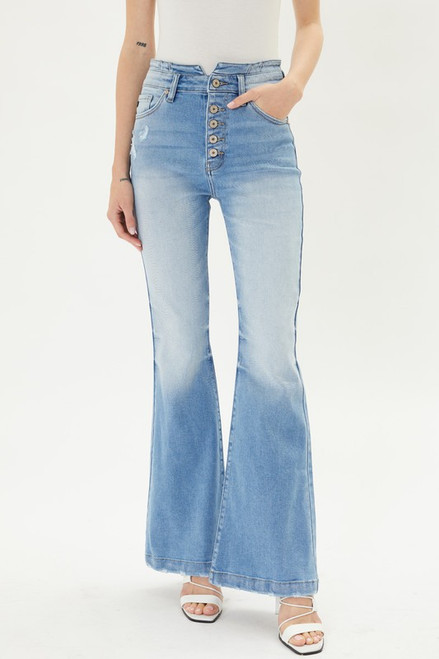 High Rise Curvy Fit Flare, Light