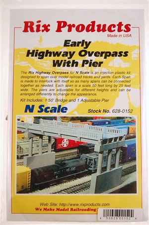 RIX 628-0152 N HIGHWAY OVERPASS WITH PIER