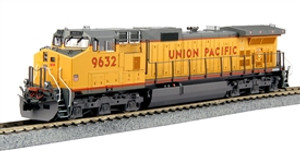 KATO 37-6632 HO GE C44-9W, UNION PACIFIC  #9632 (YELLOW, RED)