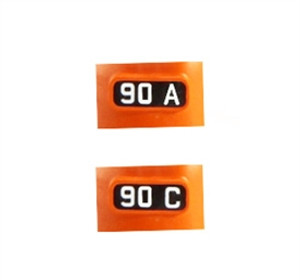 "KATO 11 650 N ALTERNATE NUMBER BOARDS FOR ""MILWAUKEE ROAD"" #90A & 90C"