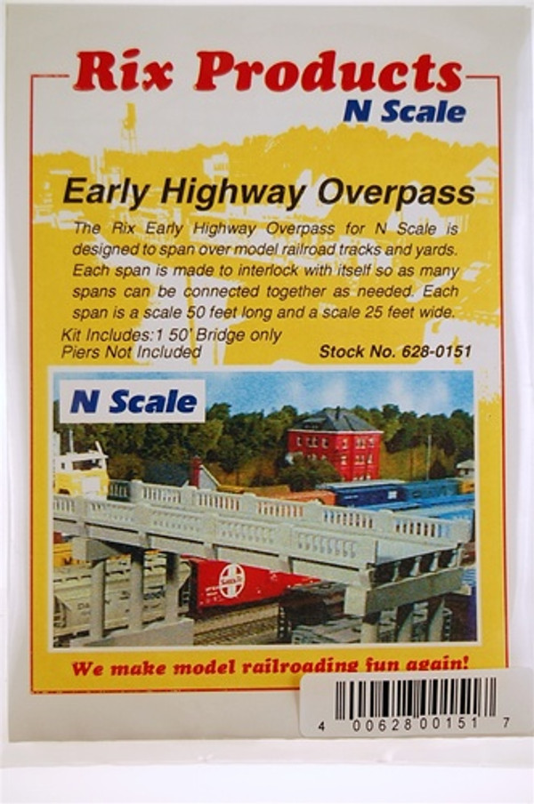 RIX 628-0151 N 30 EARLY HIGHWAY OVERPASS
