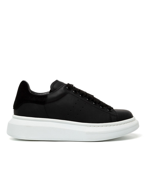 HOWELL BLACK BLACK LEATHER SUEDE