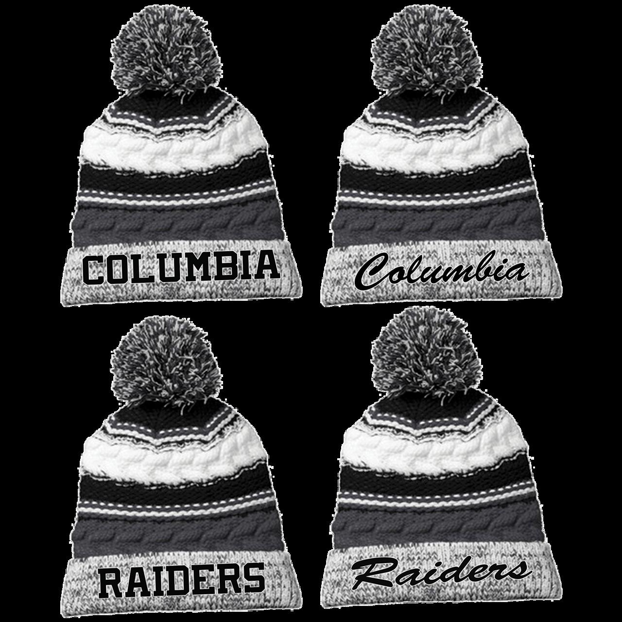 5391207c7b9a8 Columbia Raiders Pom Pom Beanie (RY200 RY202 RY204 RY206) - RycoSports