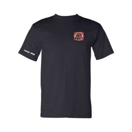 Mens Navy Front - GHFD Bulldog Logo on Left Chest