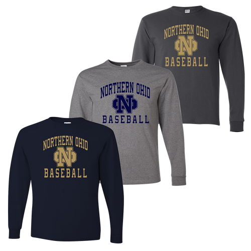 Northern Ohio Long Sleeve Tee - Navy, Athletic Heather, Charcoal