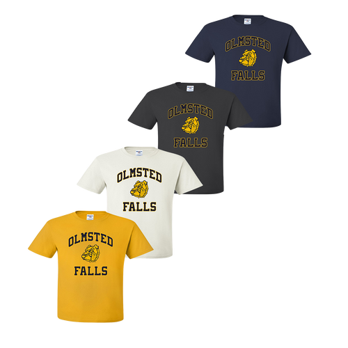 Olmsted Falls Tee - Gold, White, Charcoal, Navy