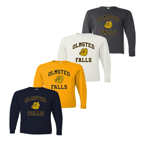 Olmsted Fall LS Tee - Navy, Gold, White, Charcoal