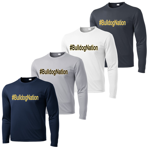 #BulldogNation Performance Tee Long Sleeve