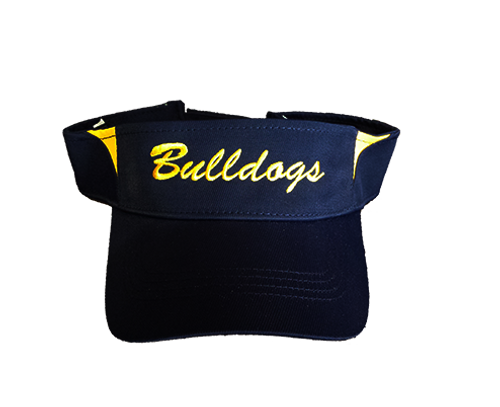 Bulldogs Visor - Navy/Gold