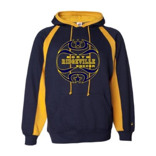North Ridgeville HS Boys Soccer Colorblock Hooded Sweatshirt