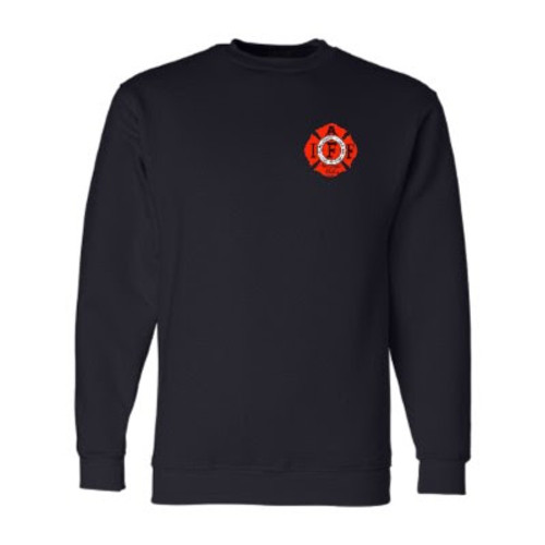 Men's Navy Front - IAFF Logo on Left Chest