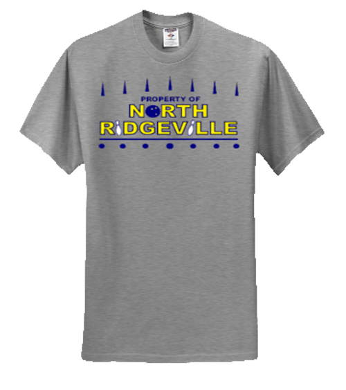 Mens Front - North Ridgeville Bowling Logo