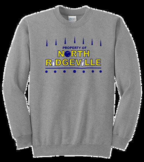Mens Crewneck Front - North Ridgeville Bowling log