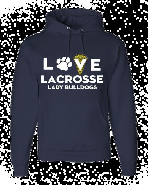 OF Ladies Love Lacrosse Hoody - Navy