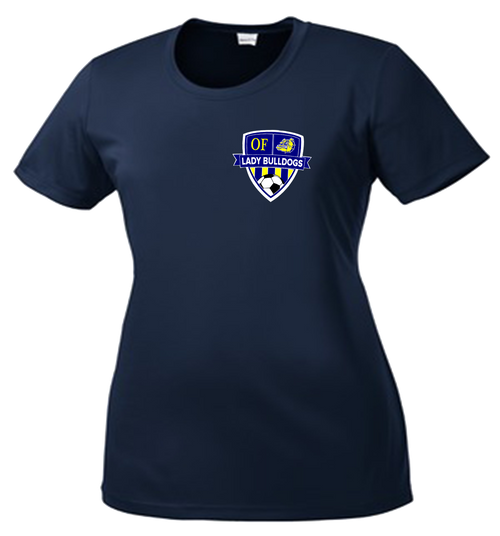 OF Lady Bulldogs Soccer DriFit Ladies Cut Tee - Navy