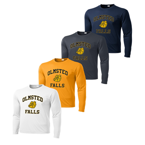 Olmsted Falls Dry Fit LS - White, Gold, Iron Grey and Navy
