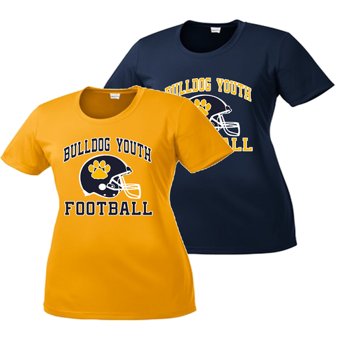 Bulldog Youth Football Ladies Performance Tee