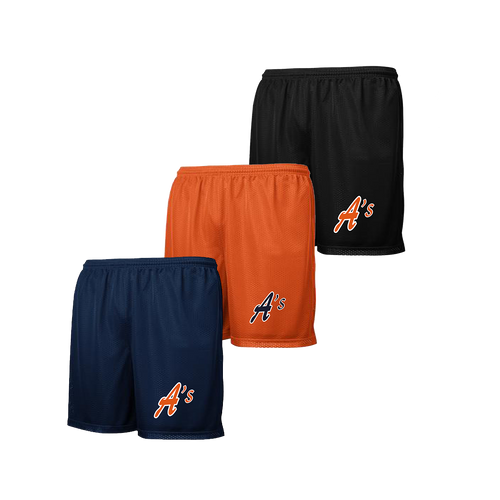 A's Logo - Navy, Deep Orange and Black