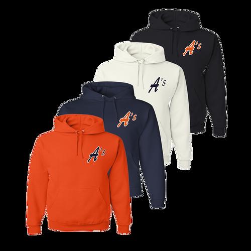 A's Logo Left Chest - Orange, Navy, White and Black
