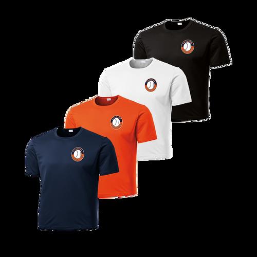 Left Chest Shield Logo - Navy, Deep Orange, White and Black