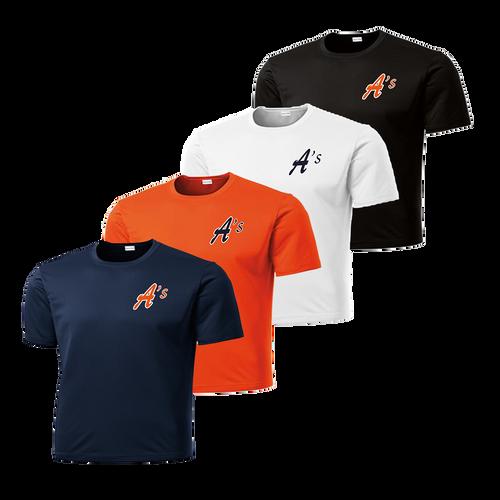 A's Left Chest Logo - Navy, Deep Orange, White and Black