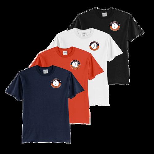 Shield Logo Left Chest - Navy, Orange, White and Black