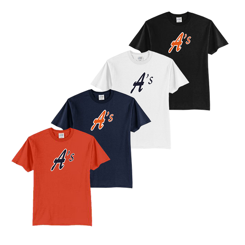 Full Front A's Logo - Orange, Navy, White and Black