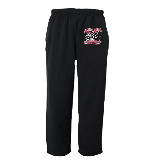 Black Sweatpants - Small logo on left thigh