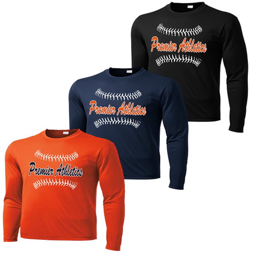 Full Front Ball Stitch Logo - Deep Orange, Navy, and Black