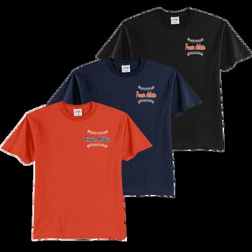 Full Front Ball Stitch Logo - Navy, Orange and Black