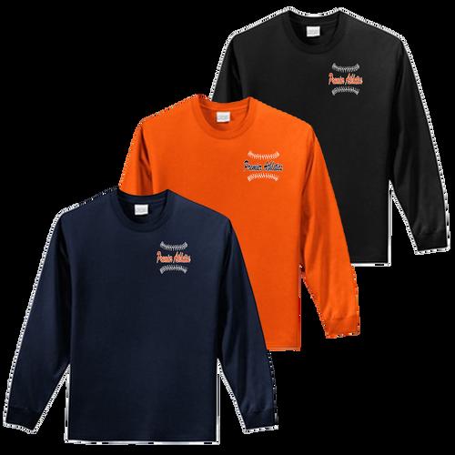 Left Chest Ball Stitch Logo - Navy, Orange and Black