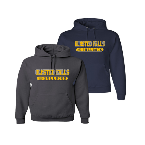 Bulldog Hoody - Charcoal and Navy