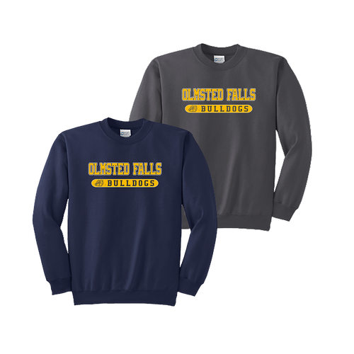Bulldog Crewneck - Navy and Charcoal