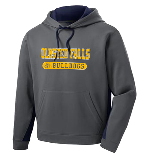 Bulldog Colorblock Performance Hoody - Dark Smokey Grey/Navy
