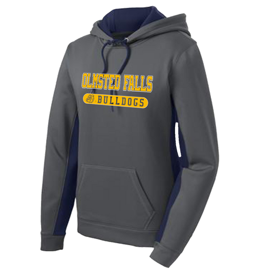 Bulldog Colorblock Ladies Performance Hoody - Dark Smokey Grey/Navy