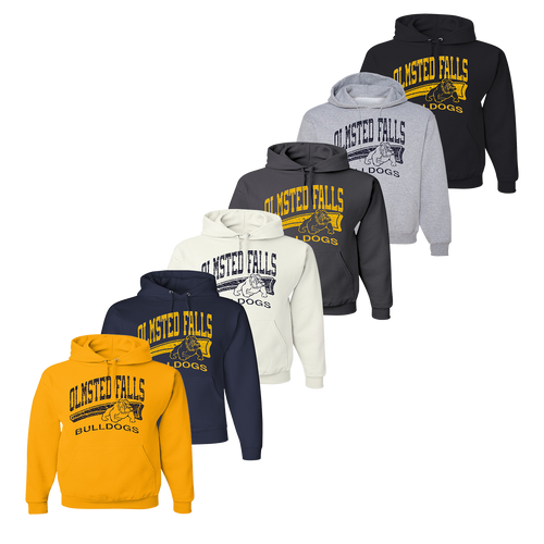 Distressed Hoody - Gold, Navy, White, Charcoal, Athletic Heather, Black