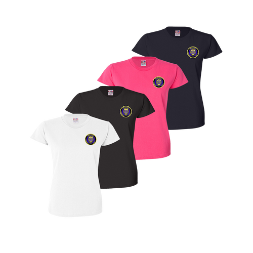 LPD Ladies Tee - White,Black,Bright Pink,Navy