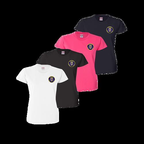 LPD Ladies Tee - White,Black,Bright Pink,Navy