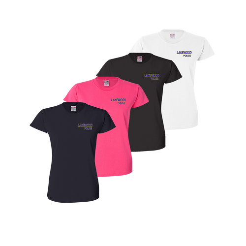 LPD Ladies Tee - Black,Bright Pink,Navy,White