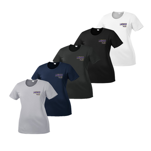 LPD Ladies Dry Fit Tee - Silver,Navy,Iron Grey,Black,White