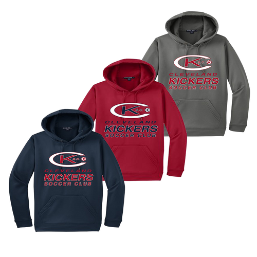 Kickers Performance Hoody - Navy, Deep Red, Dark Smoke Grey