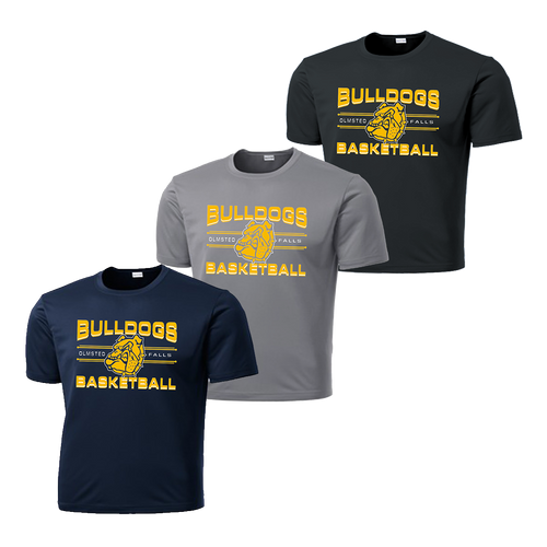 OF Basketball Dry Fit Tee - Navy,Silver,Iron Grey