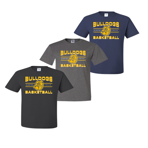 OFBA Basketball Tee - Charcoal, Oxford, Navy