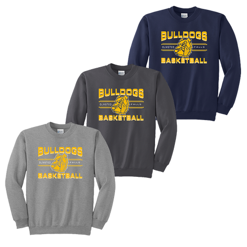 OFBA Basketball Crewneck - Athletic Heather,Charcoal,Navy
