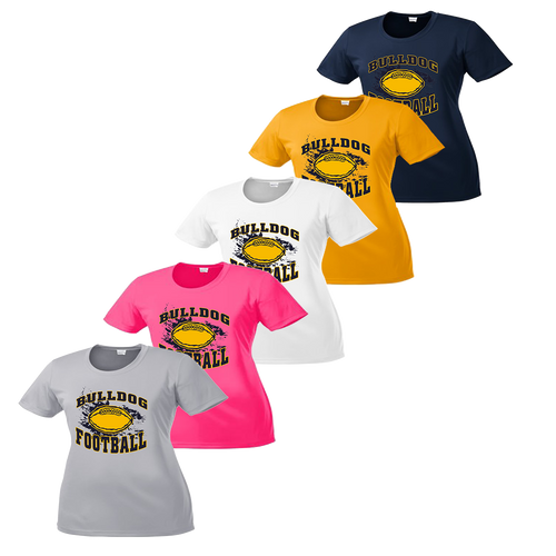 Bulldog Football Ladies Performance Tee