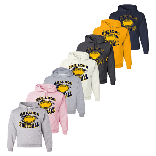 Bulldog Football Hoody