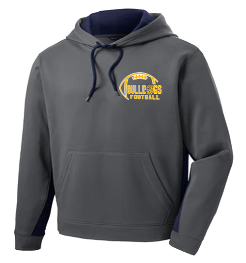 Bulldogs Football Performance Hooded Sweatshirt (S039)